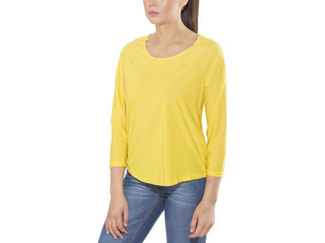 Kari Traa Pia LS - Camiseta de manga larga Mujer - amarillo